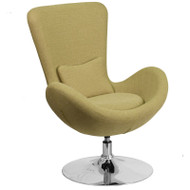 Flash Furniture Egg Series Reception Lounge Side Chair Red Fabric - CH-162430-GN-FAB-GG