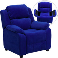 Flash Furniture Kid's Recliner with Storage Blue Microfiber - BT-7985-KID-MIC-BLUE-GG