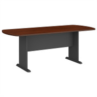 Bush Business Furniture Series A & C 79W x 34D Racetrack Oval Conference Table in Hansen Cherry - TR90484A