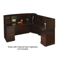 Mayline Sorrento Reception Station Desk with Veneer Counter Right Hand Return Espresso - SRCSR