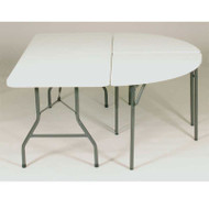 Correll Package FS-Series Blow-Molded Plastic Banquet Folding Tables - FS8