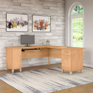 "Bush Somerset Collection L-Shaped Desk 71"" Maple Cross - WC81410K"