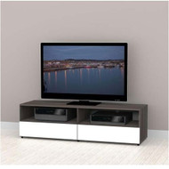 "Nexera Allure Entertainment Collection 60"" TV Console - 2 Open Spaces, 2 Drawers - 220133"