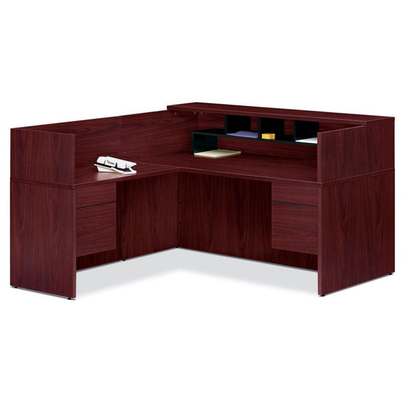 Hon 10500 L Reception Desk With Return Screen Return On Left Side 105package1