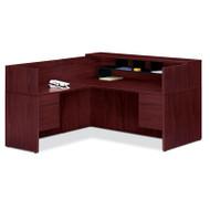 HON 10500 L Reception Desk with Return Screen, Return on Left Side - 105Package1