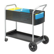 "Safco Scoot Mail Cart, 32""D - 5239BL"