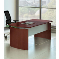 "Mayline Medina Laminate Executive Desk 63"" Mahogany - MND63-LMH"