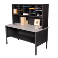 "Marvel 25 Adjustable Slot Literature Organizer with Riser Black 60""W x 30""D x 60-68""H - UTIL0022"