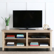 "Walker Edison Essential 58"" Wood TV Console,  Natural - W58CSPNL"