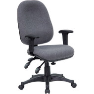 Flash Furniture Mid-Back Multi-Functional Gray Fabric Swivel Computer Chair - BT-662-GY-GG