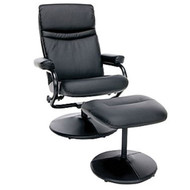OFM Essentials Leather Recliner and Ottoman - ESS-7000