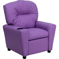 Flash Furniture Contemporary Kid's Recliner with Cup Holder Lavender Vinyl - BT-7950-KID-LAV-GG