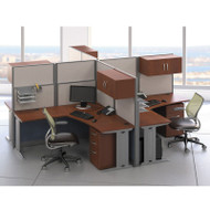 MONTHLY SPECIAL! Bush Furniture Office-in-an-Hour L-Shaped Desk Workstation 4-units - OIAH007HC