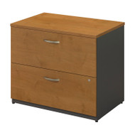 Bush Business Furniture Series C Lateral File Cabinet Natural Cherry Assembled - WC72454CSU