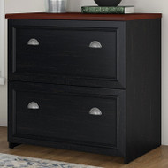 Bush Furniture Fairview Lateral File Cabinet in Antique Black - WC53981-03