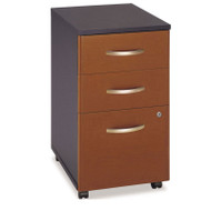 Bush Business Furniture Series C Mobile File Cabinet 3-Drawer in Auburn Maple Assembled - WC48553SU