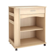 Nexera Microwave Cart Natural Maple Finish - 597