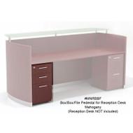 Mayline Medina Laminate Pedestal Drawer for Reception Desk (Box/Box/File) Assembled, Mahogany - MNRBBF-LMH