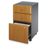 Bush Business Furniture Series A Mobile File Cabinet 3-Drawer Natural Cherry - WC57453P