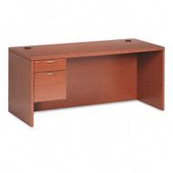 "HON 11500 Series Valido Executive Single Pedestal Desk 66"" Left, Assembled - 11584"