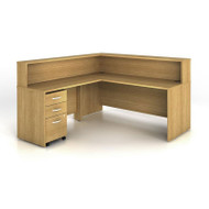Bush Business Furniture Series C Reception Desk Light Oak - SRC003LO