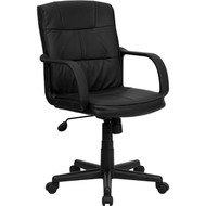 Flash Furniture Mid-Back Black Leather Executive Office Chair - GO-228S-BK-LEA-GG