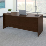 "Bush Business Furniture Series C Desk Bowfront in Mocha Cherry 72""W x 36""D - WC12946"