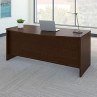 "Bush Business Furniture Series C Desk Bowfront in Mocha Cherry 72""W x 36""D - WC12946"