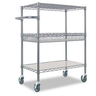 Alera Three-Tier Wire Rolling Cart - SW543018