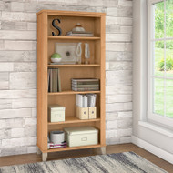 Bush Somerset Collection Bookcase 5-Shelf Maple Cross - WC81465