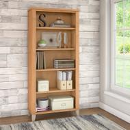 Bush Somerset Collection Bookcase 5-Shelf Maple Cross - WC81465