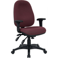 Flash Furniture Mid-Back Multi-Functional Burgundy Fabric Swivel Computer Chair - BT-662-BY-GG