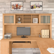 """Bush Somerset Collection Hutch for L-Shaped Desk 71"""" Maple Cross - WC81411"""