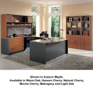 Bush Business Furniture Series C Package Executive U-Shaped Bowfront Desk - SC9