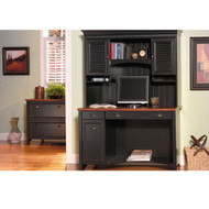 Bush Stanford Collection Desk and Lateral File Cabinet Package A - STAPackageA