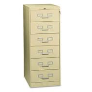 Tennsco Multimedia Steel 6-Drawer File Cabinet - CF-669PY