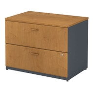 "Bush Business Furniture Series A Lateral File Cabinet in Natural Cherry 36""W Assembled - WC57454PSU"