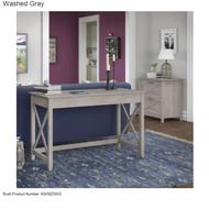 Bush Key West 48W Writing Desk with Lateral File - KWS003WG