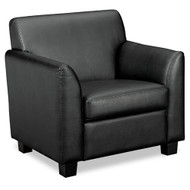 Basyx by HON Tailored Black Leather Club Chair - VL871ST11