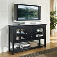 "Walker Edison Buffet 52"" Console Table, Black - W52C4CTBL"
