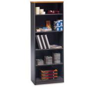 """Bush Business Furniture Series A Bookcase 5-Shelf 66"""" Natural Cherry - WC57465"""