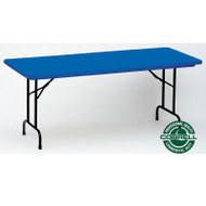 Correll R-Series Heavy Duty Blow-Molded Plastic Folding Table Colored 24 x 48  - R2448C