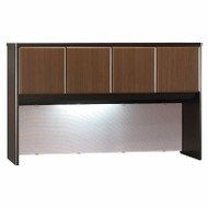 "Bush Business Furniture Series A Desk Hutch 60"" Sienna Walnut - WC25561P"