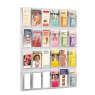 Safco Deluxe Clear Display - 24 Pamphlet Pockets - 5601CL