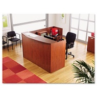 Alera Valencia Collection L-Shaped Reception Desk w/ Pedestal Files - VAL2