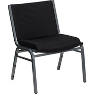 Flash Furniture Hercules Series Big and Tall Extra Wide Fabric Stack Chair Black 1000 lbs. Capacity - XU-60555-BK-GG