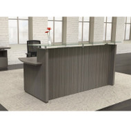 Mayline Sterling Reception Desk No Pedestals Textured Driftwood - STRC72-TDW