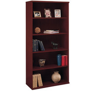 Bush Business Furniture Series C Bookcase 5-Shelf Open Double in Mahogany - WC36714