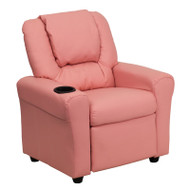 Flash Furniture Kid's Recliner with Cup Holder Pink Vinyl - DG-ULT-KID-PINK-GG