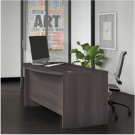 "Bush Business Furniture Studio C Bow Front Desk 72"" Storm Gray - SCD172SG"